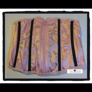 Other - Pink Corset Zipper front, lace up, cinched